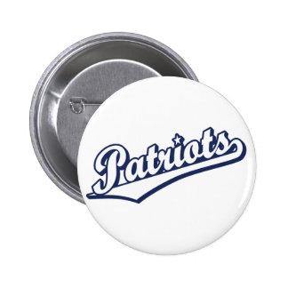 Patriots in Custom Colors Pinback Button