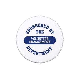Patrocinado por el departamento voluntario de la g jarrones de caramelos