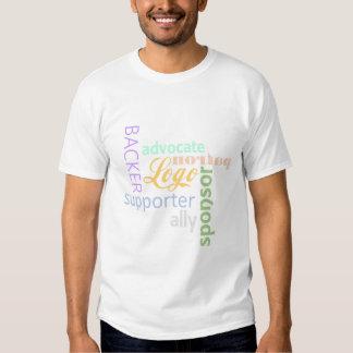 Patrocinado por la camiseta - hombres poleras