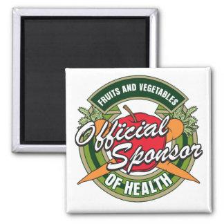 Patrocinador de las verduras de la salud imanes