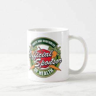 Patrocinador de las verduras de la salud tazas de café