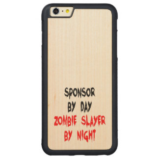Patrocinador del asesino del zombi funda para iPhone 6 plus de carved® de nogal