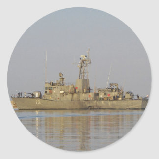 Patrol Boat Classic Round Sticker