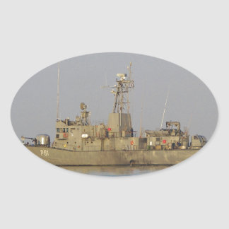 Patrol Boat Oval Sticker