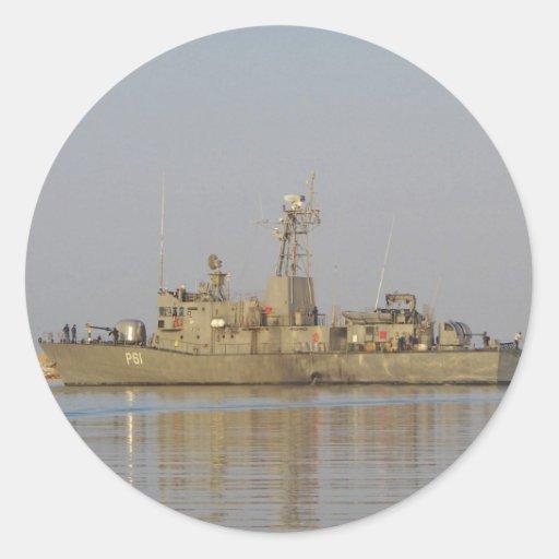 Patrol Boat Round Stickers