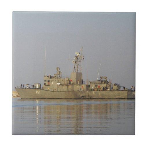 Patrol Boat Ceramic Tile