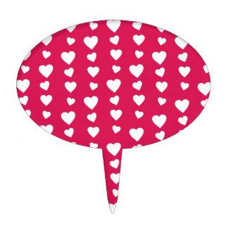 Patrón Corazones blancos del día de San Valentín Decoración Para Tarta