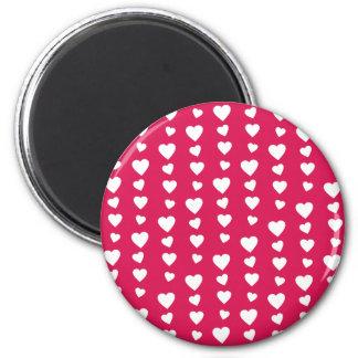 Patrón Corazones blancos del día de San Valentín Iman