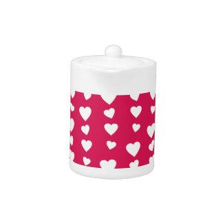 Patrón Corazones blancos del día de San Valentín