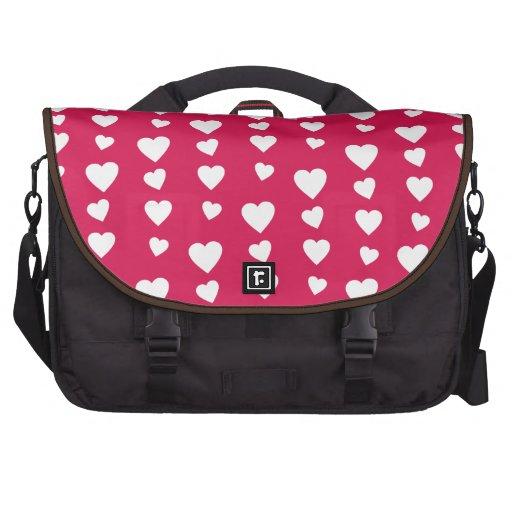 Patrón Corazones del día del amor de San Valentín Bolsas De Portatil