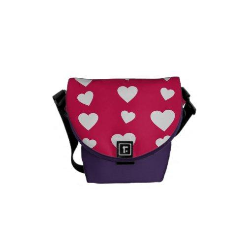 Patrón Corazones del día del amor de San Valentín Bolsas Messenger