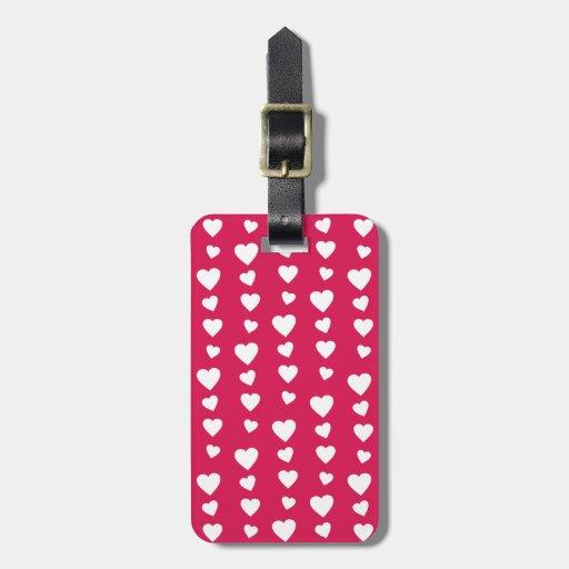 Patrón Corazones del día del amor de San Valentín Etiquetas Bolsa