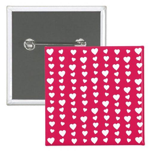 Patrón Corazones del día del amor de San Valentín Pins
