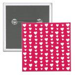 Patrón Corazones del día del amor de San Valentín Pin Cuadrada 5 Cm