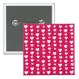 Patrón Corazones del día del amor de San Valentín Pin Cuadrado