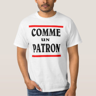 PATRÓN DE LA O.N.U DE COMME. Como BOSS en francés Polera
