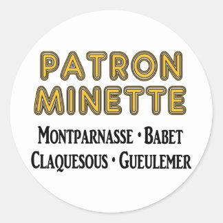 Patron-Minette Classic Round Sticker