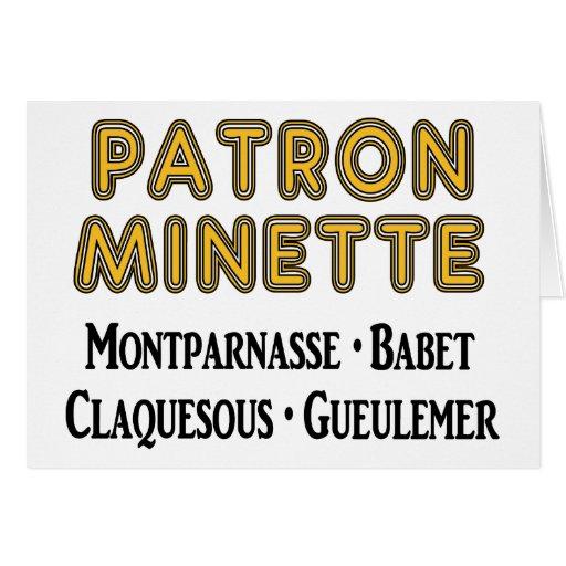 Patrón-Minette Felicitación