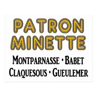 Patrón-Minette Tarjetas Postales