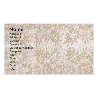 Patrón oro - brilla y agita para nunca plantilla de tarjeta personal
