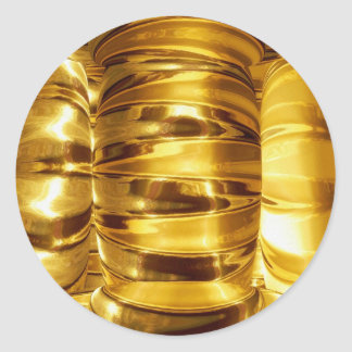 Patrón oro de NOVINO - un regalo nada tiene gusto Pegatina Redonda
