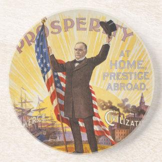 Patrón oro del poster de la campaña de William McK Posavasos Cerveza