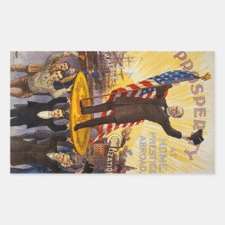 Patrón oro del poster de la campaña de William Pegatina Rectangular