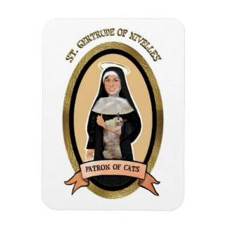 Patron Saint of Cats magnet for the fridge