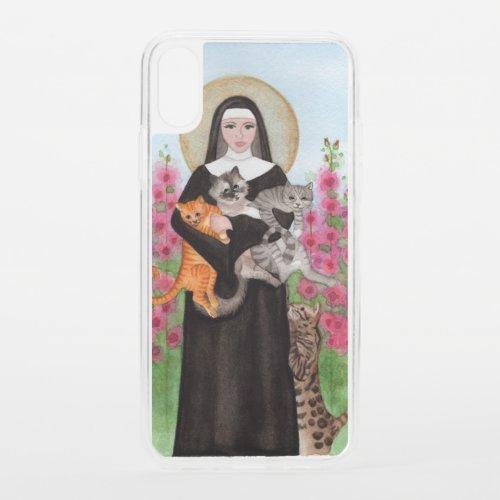 Patron Saint of Cats St Gertrude iPhone XS Case