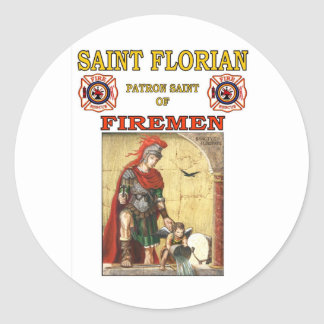 PATRON SAINT OF FIREMEN STICKER
