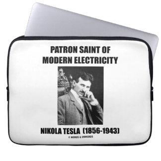 Patron Saint Of Modern Electricity (Nikola Tesla) Computer Sleeve