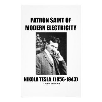 Patron Saint Of Modern Electricity (Nikola Tesla) Stationery