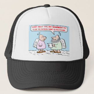 patron saint of politicians trucker hat