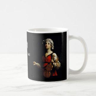 Patroness de Cecilia del santo de la taza de café