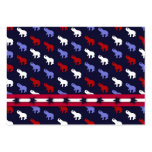 Patrotic Elephants Gift Tag Business Card Templates