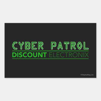 Patrulla cibernética pegatina rectangular