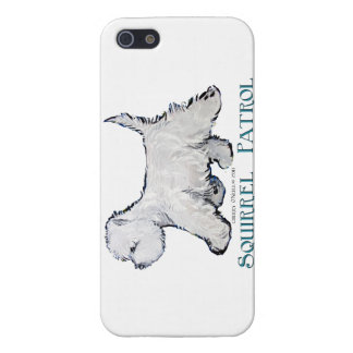 Patrulla de la ardilla de Westie iPhone 5 Fundas
