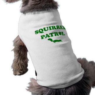 Patrulla de la ardilla camisa de mascota