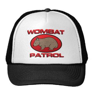 Patrulla de Wombat III Gorras De Camionero