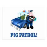 Patrulla del cerdo tarjetas postales
