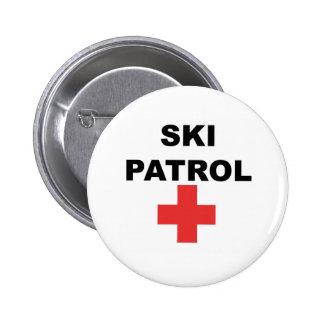 Patrulla del esquí pin redondo de 2 pulgadas