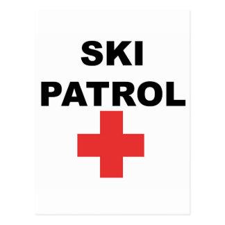 Patrulla del esquí tarjeta postal