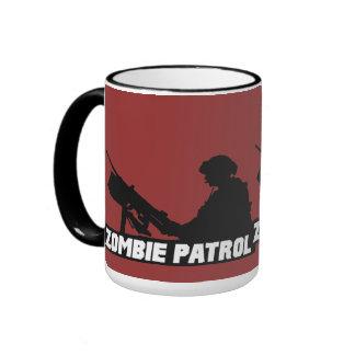 Patrulla del zombi - en la taza de café del arma