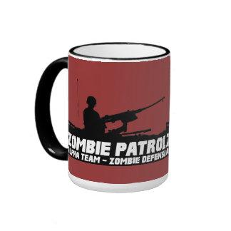 Patrulla del zombi - equipo alfa, defensa del zomb taza de café