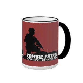 Patrulla del zombi - equipo alfa, victoria o muert tazas de café
