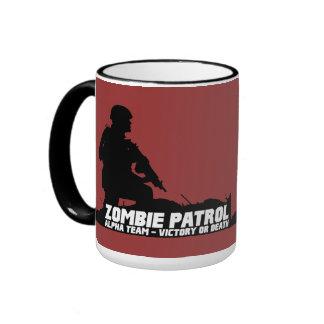 Patrulla del zombi - equipo alfa, victoria o taza de dos colores