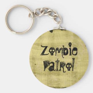 Patrulla del zombi llavero redondo tipo pin