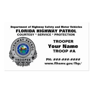 Patrulla FHP de la carretera de la Florida Tarjetas De Visita