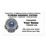 Patrulla FHP de la carretera de la Florida Plantilla De Tarjeta De Negocio