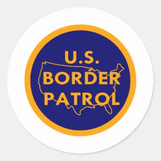 Patrulla fronteriza #2002 de los E.E.U.U. Pegatina Redonda